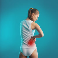 Woman experencing Kidney pain