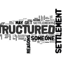 sign that reads structured settlements