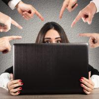 woman getting bullied online