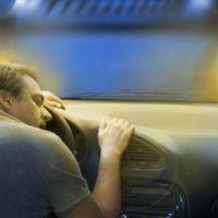 A sleepy truck driver