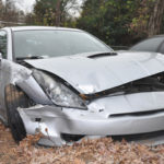 grey car in accident