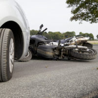 red motorcycle crash