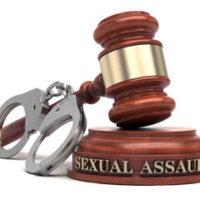 The gavel with SEXUAL ASSAULT logo