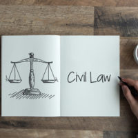 paper that reads civil law
