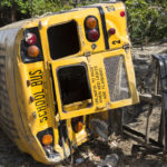 school bus rolled over in accident