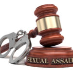 Sexual Assault text on sound block & gavel