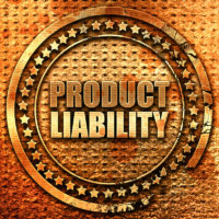 product liability, 3D rendering, grunge metal stamp
