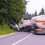 Truck and Car crash accident
