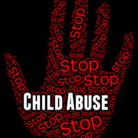 Stop Child Abuse Represents No Childhood And Mistreat